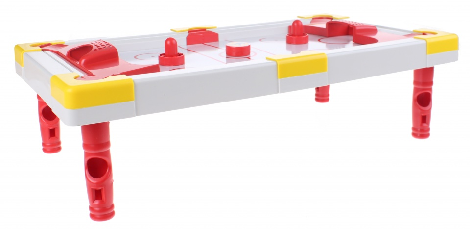 Toi Toys hockeytafel wit/rood 48 x 26 13 cm 5 delig