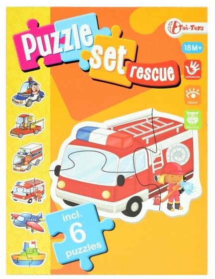 Toi Toys hulpdiensten puzzelset incl 6 puzzels