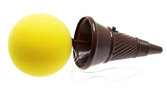Toi Toys ice cream shooter 30 cm geel/bruin
