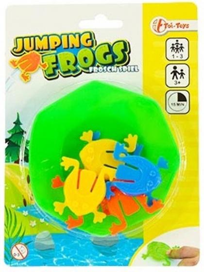 Toi Toys jumping frogs kikkerspel 7 delig 9.5 cm