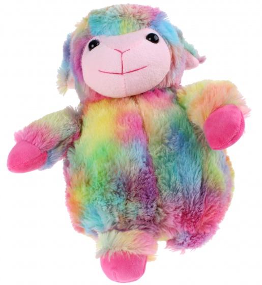 Toi Toys knuffel schaap discokleuren 35 cm