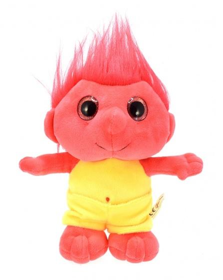 Toi Toys knuffel trol rood 25 cm