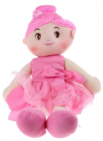 Toi Toys knuffelpop Ballerina 50 cm pluche roze