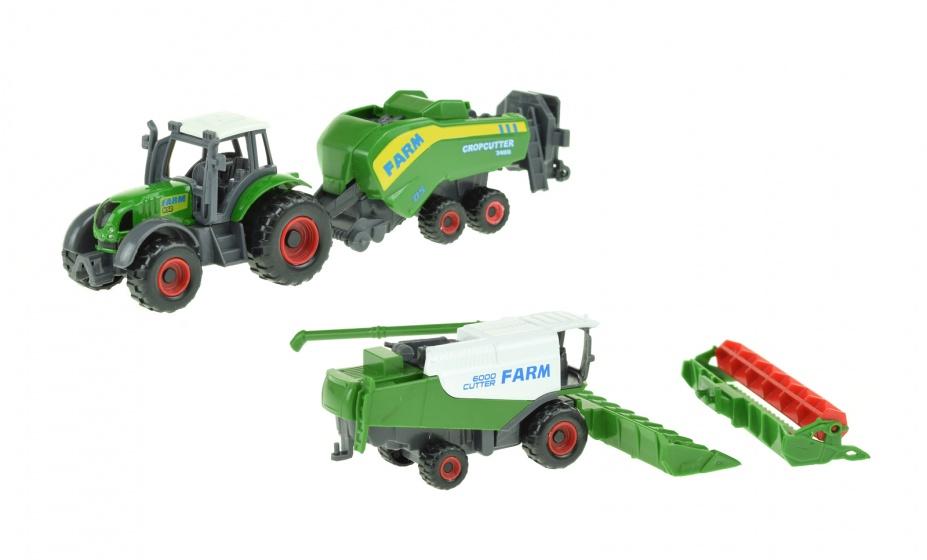 Toi Toys landbouwvoertuigen set 16 cm 5 delig groen