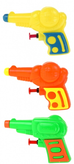 Toi Toys mini waterpistooltjes multicolor 10 cm 3 stuks