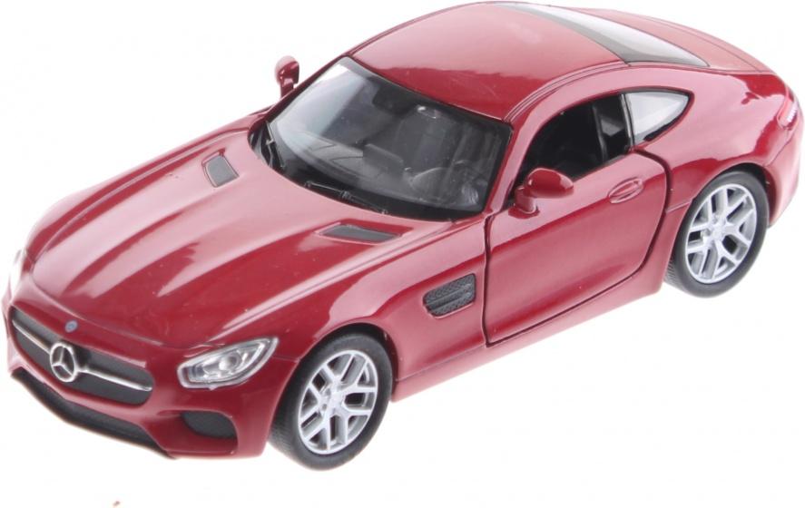schaalmodel Mercedes-Benz AMG GT rood 11cm