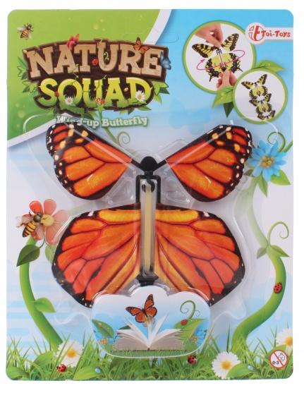 Toi Toys Nature Squad opwindbare vlinder 12 cm oranje