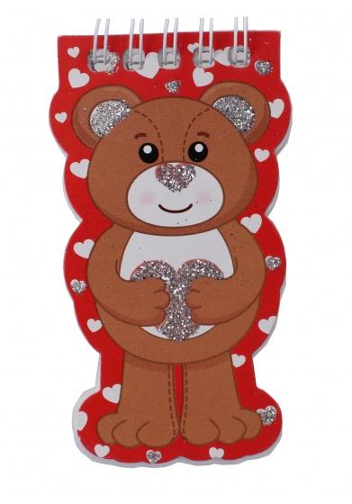 Toi Toys notitieboekje dieren 10 cm beer rood kopen
