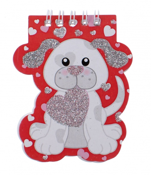 Toi Toys notitieboekje dieren 10 cm hond rood kopen