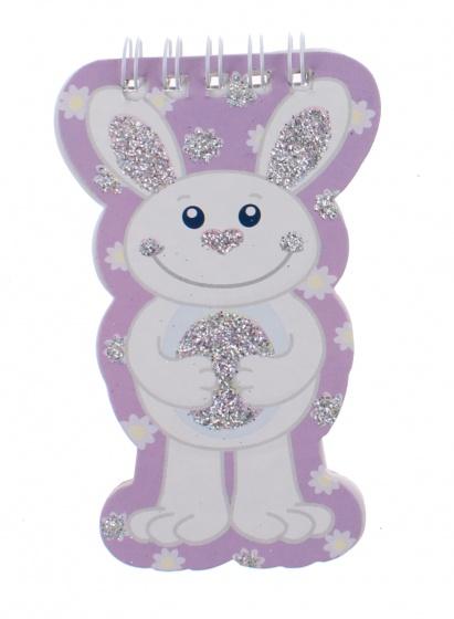 Toi Toys notitieboekje dieren 10 cm konijn paars kopen