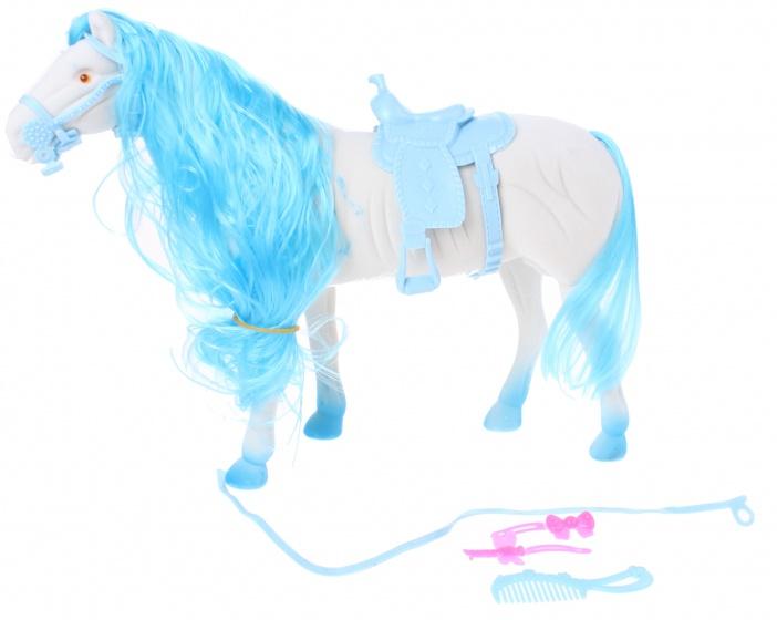 Toi Toys Paard Blauw 28 Cm 5 Delig Blauw