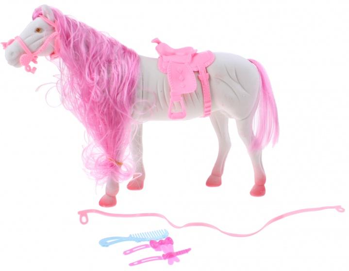 Toi Toys Paard Blauw 28 Cm 5 Delig Roze