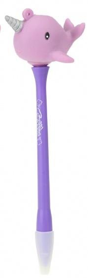 Toi Toys pen met knijpnarwal 15 cm paars