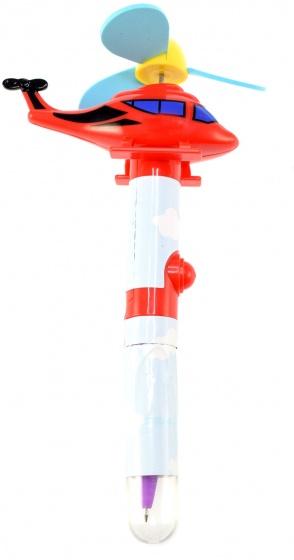 Toi Toys pen met ventilatie helikopter rood 14 cm