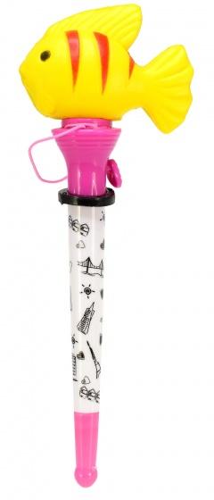 Toi Toys pen met vis geel/roze 14 cm
