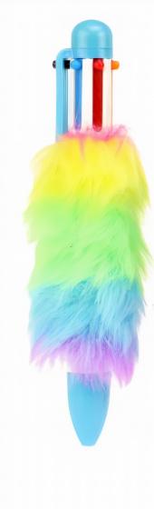 Toi Toys balpen Pluche 6 kleuren inkt meisjes blauw