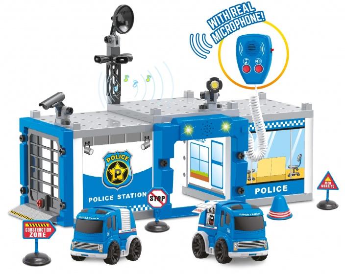 Toi Toys politiebureau met licht en geluid 49,5 cm blauw