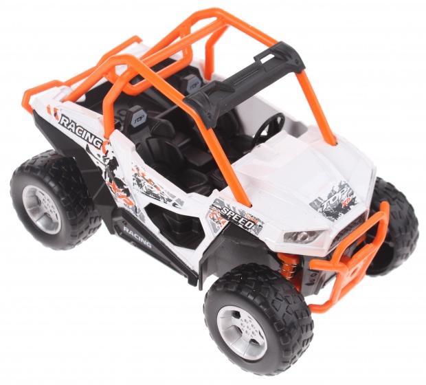 Toi Toys race buggy met licht en geluid 13 cm wit