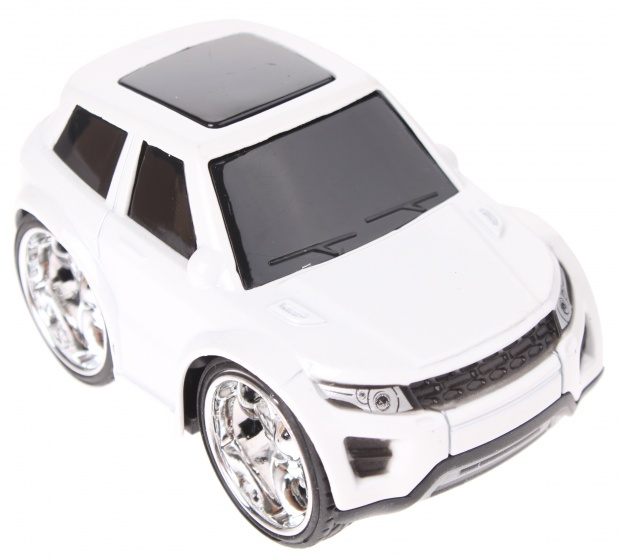 Toi Toys raceauto pull back 9 cm wit