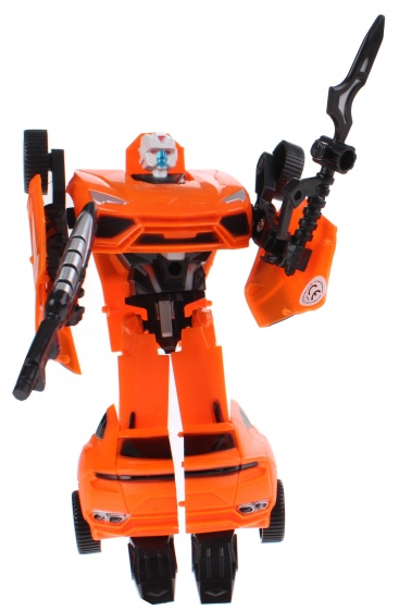 Toi Toys Roboforces transformation robot oranje 18 cm
