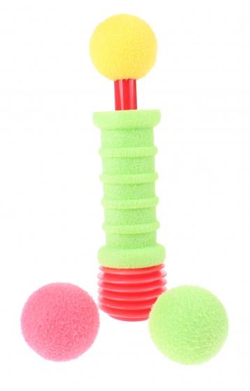 Toi Toys Rocket afschietbal 3 stuks foam 17 cm groen