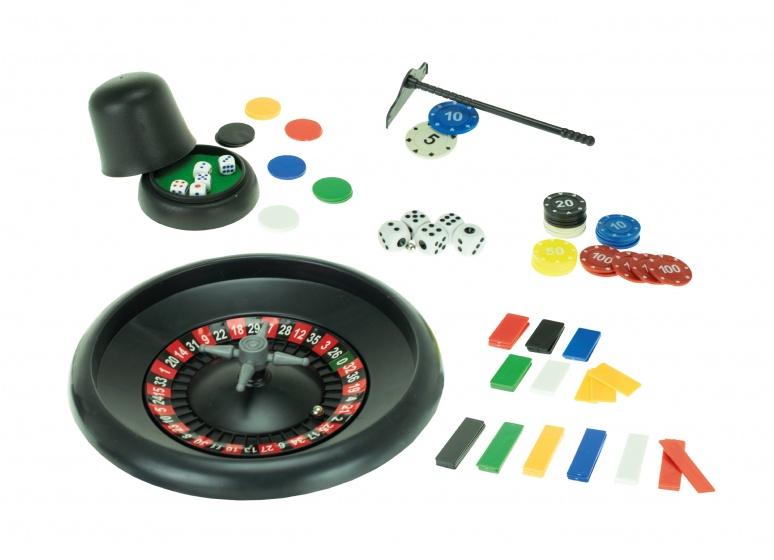 Toi Toys rouletteset groen/zwart 18 delig 15 cm