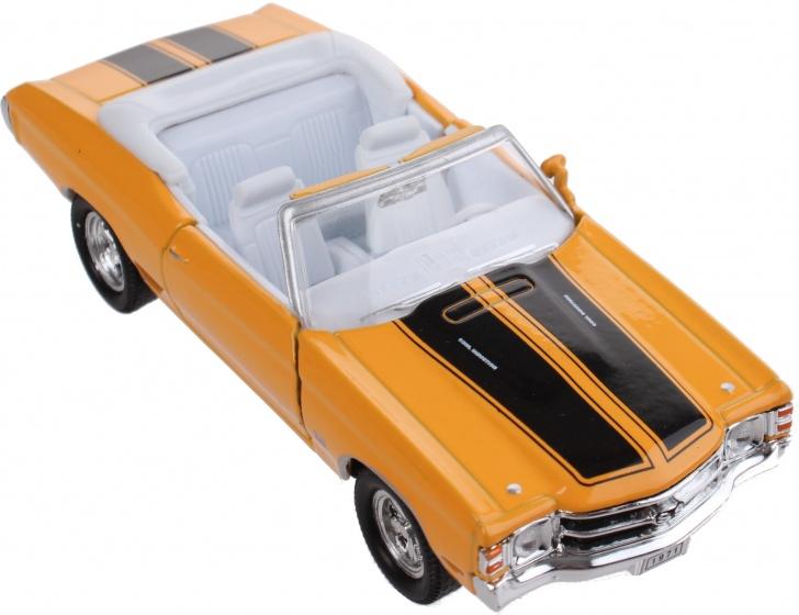 Toi Toys schaalmodel Chevrolet 1971 Chevelle SS 454 1:34 geel 12 cm