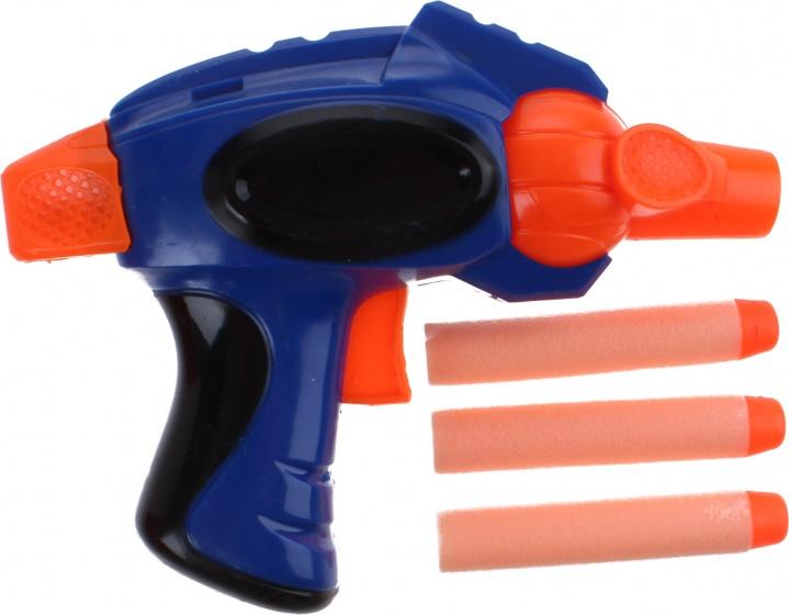 Toi Toys shotgun blaster blauw 14 cm