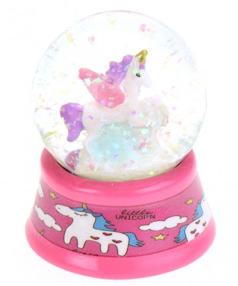 Toi Toys sneeuwbol met glitters Eenhoorn meisjes 6 cm roze
