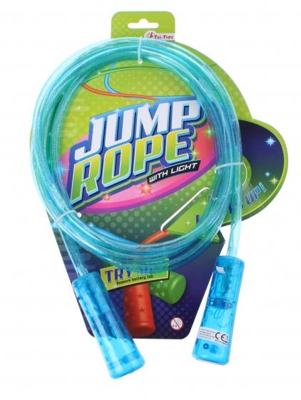 Toi Toys springtouw met licht 210 cm blauw