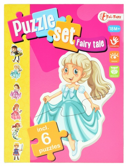 Toi Toys sprookje puzzelset incl 6 puzzels
