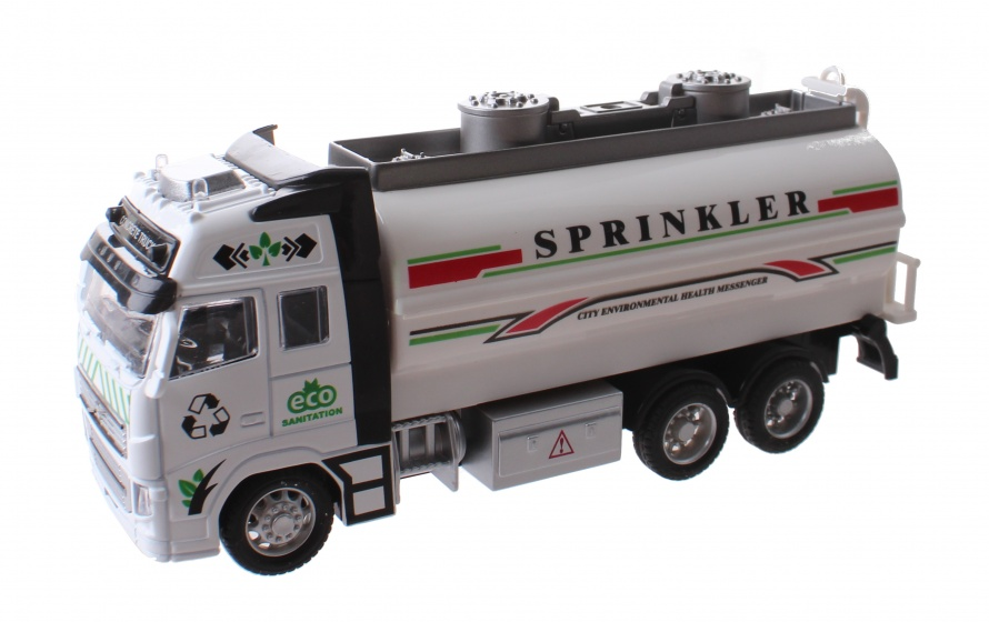 Toi Toys tankwagen Sprinkler 18 cm wit