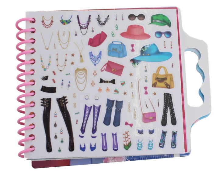 drawing book with stickers Fashion City girls