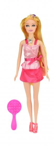 Toi Toys Tienerpop Lauren lang haar met paarse lok 29 cm