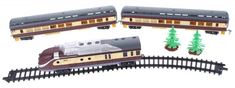 Toi Toys treinset deluxe met sneltrein 360 cm