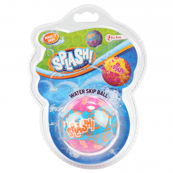 Toi Toys Waterstuiterbal Splash polyester roze/blauw