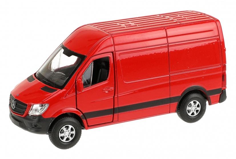 WELLY Mercedes Benz Sprinter Panel Van 11,5cm rood