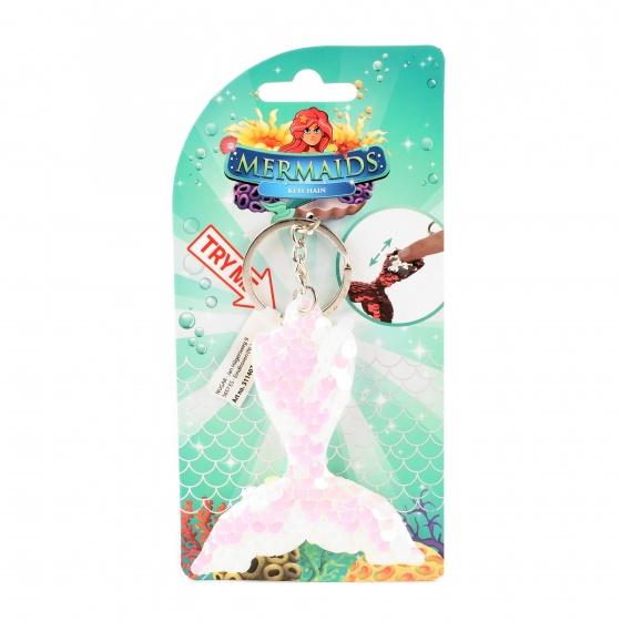Toi Toys zeemeermin sleutelhanger 10 cm roze