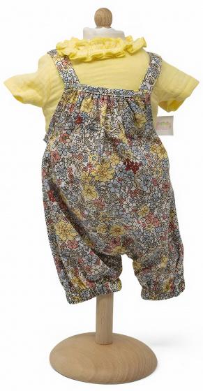 Toizz babypop jumpsuit meisjes 42-46 cm polyester geel