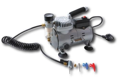 Tom ballencompressor 220 volt kunststof zilver zwart 234544