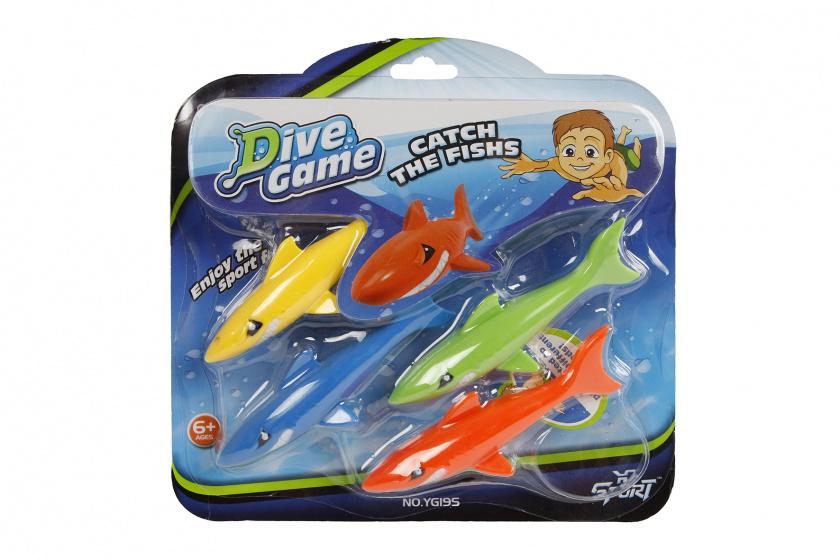 TOM duikspel haaien junior 12 cm 4 delig