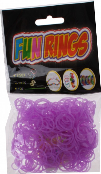 TOM Fun Rings armband vlechten lila 325 delig