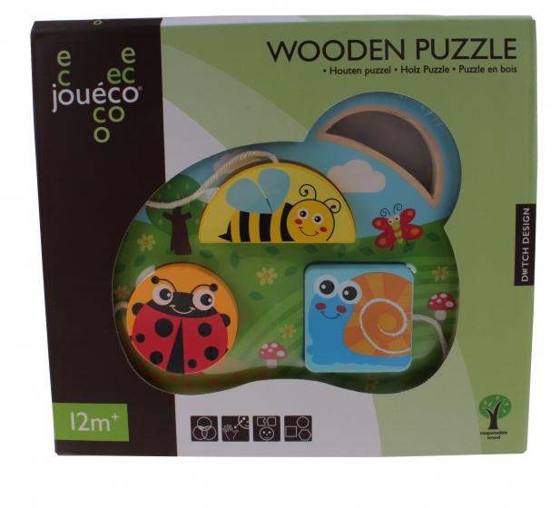 Jouéco Houten puzzel insecten 21,5 x 24,5 cm