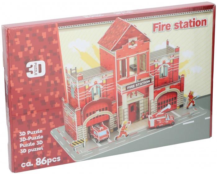 TOM puzzel 3D brandweer 86 stukjes