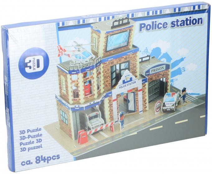TOM puzzel 3D politiebureau 84 stukjes