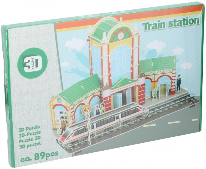 TOM puzzel 3D treinstation 89 stukjes