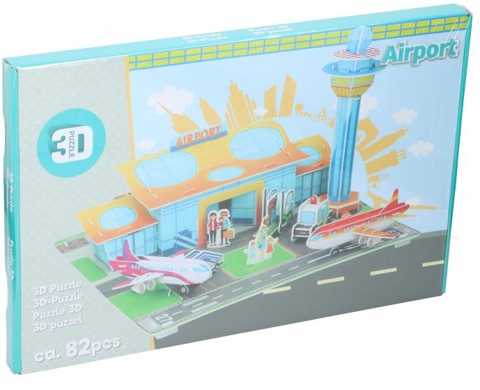 TOM puzzel 3D vliegveld 82 stukjes