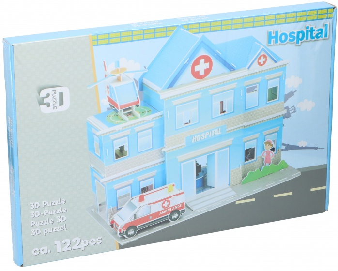 TOM puzzel 3D ziekenhuis 122 stukjes