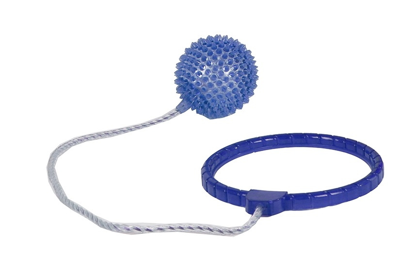 TOM enkelspringbal met licht junior 40 cm blauw