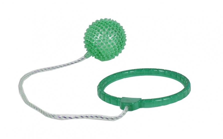 TOM enkelspringbal met licht junior 40 cm groen